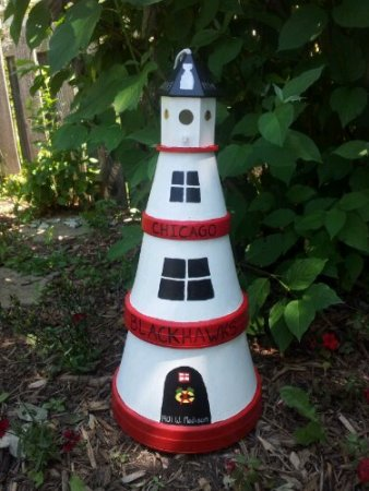 Finished Lighthouse in Garden