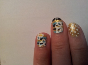 spotted striped flowery summer nail design tested on Pintertesting.com