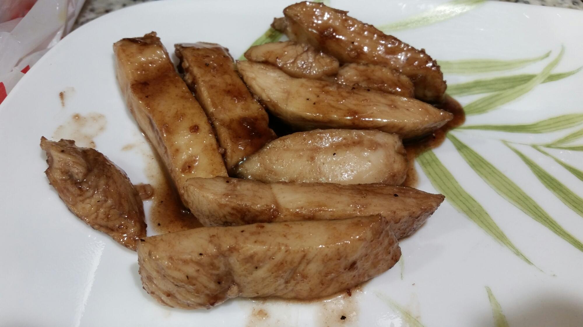 Honey balsamic chicken with glaze.